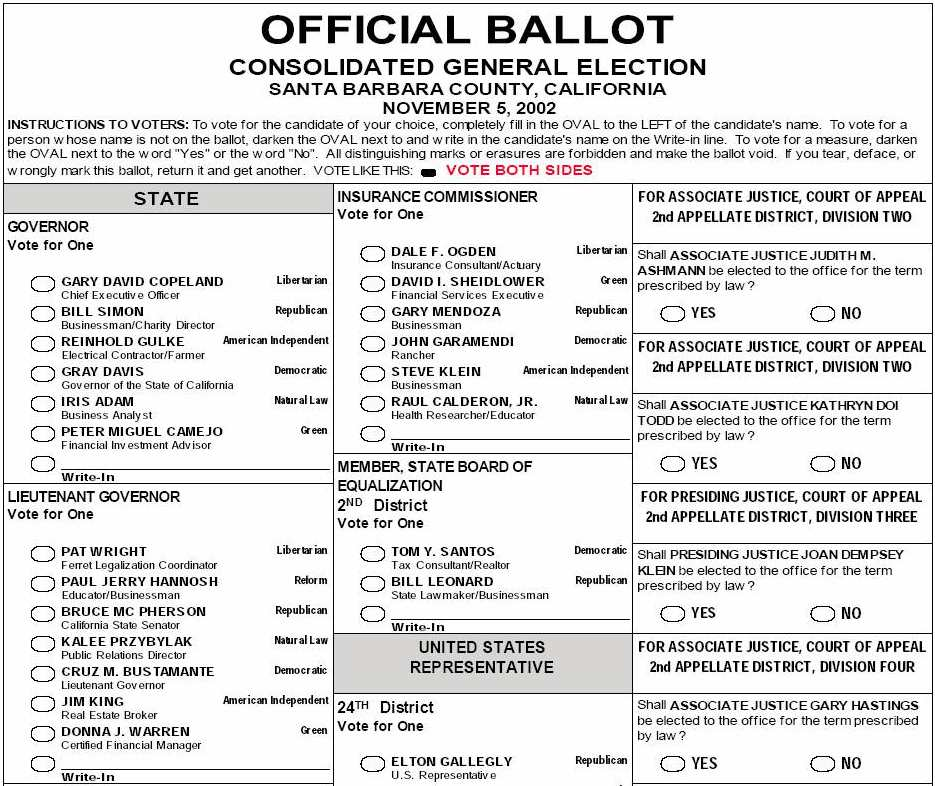 NYVV - Paper Ballot Picture